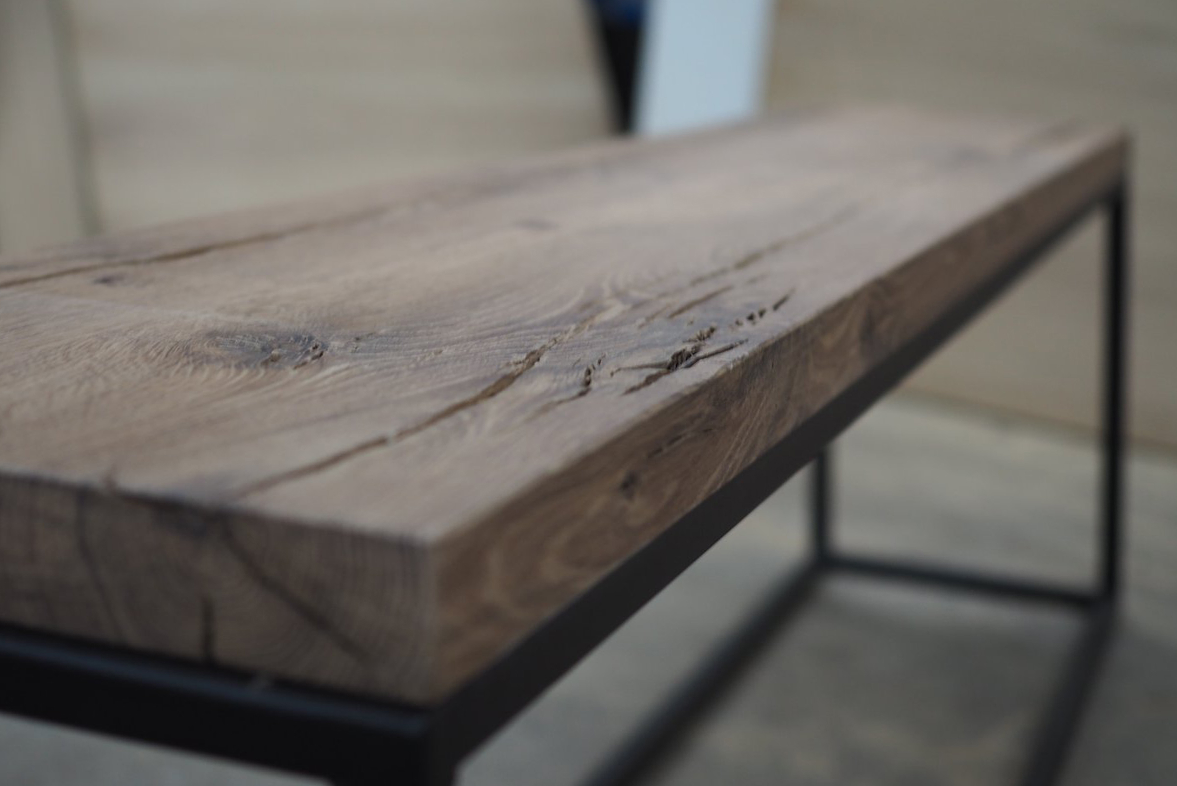 Hout en staal meubel