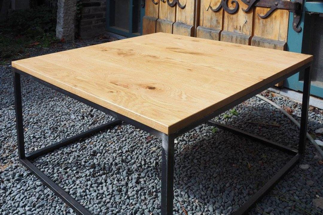 hout en staal tafeltje